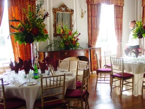 Charter Club's dining room set up for a wedding