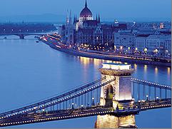 Europe River Cruise - Budapest Chain Bridge night