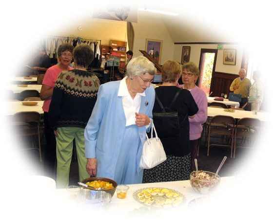 Potluck at St. Mary's Episcopal Church